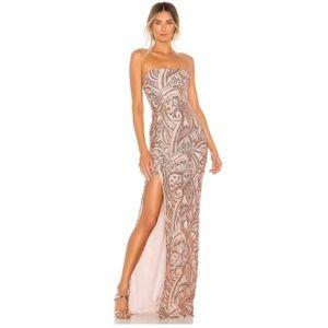 Nookie Sensational Sequin Gown (rose gold)